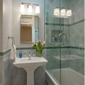 раздвижные шторки для ванной идеи дизайн