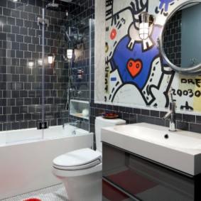 раздвижные шторки для ванной идеи дизайна