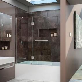раздвижные шторки для ванной идеи фото декор