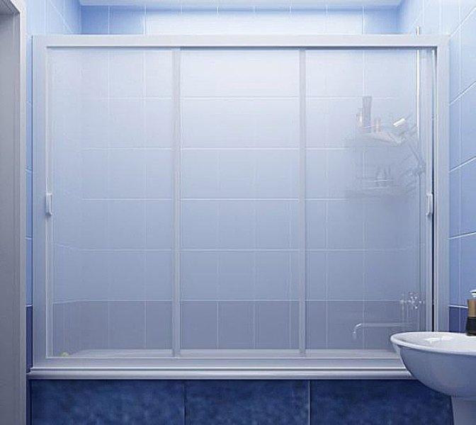стеклянная шторка для ванной идеи