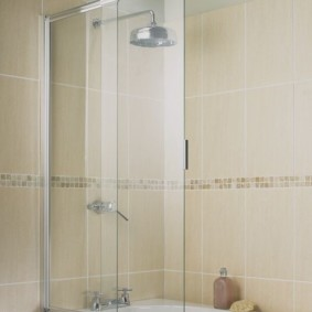 раздвижные шторки для ванной идеи оформления