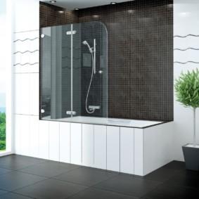 раздвижные шторки для ванной идеи вариантов