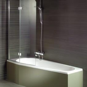 раздвижные шторки для ванной идеи варианты