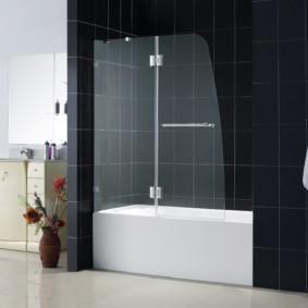 шторка для ванной комнаты из стекла обзор фото