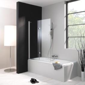 раздвижные шторки для ванной идеи фото