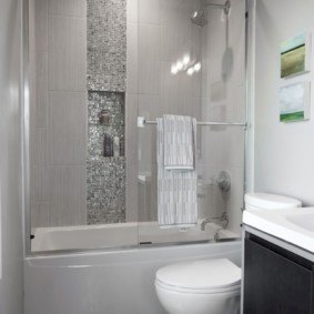 раздвижные шторки для ванной оформление фото