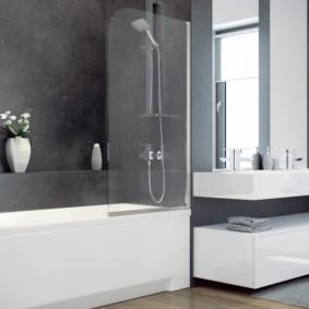 раздвижные шторки для ванной оформление идеи