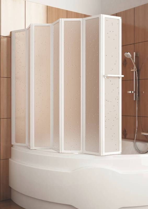 стеклянная шорка для ванной гармошка