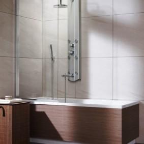 раздвижные шторки для ванной варианты идеи