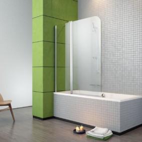 раздвижные шторки для ванной виды фото