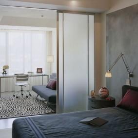 стильная спальня 12 кв. м.