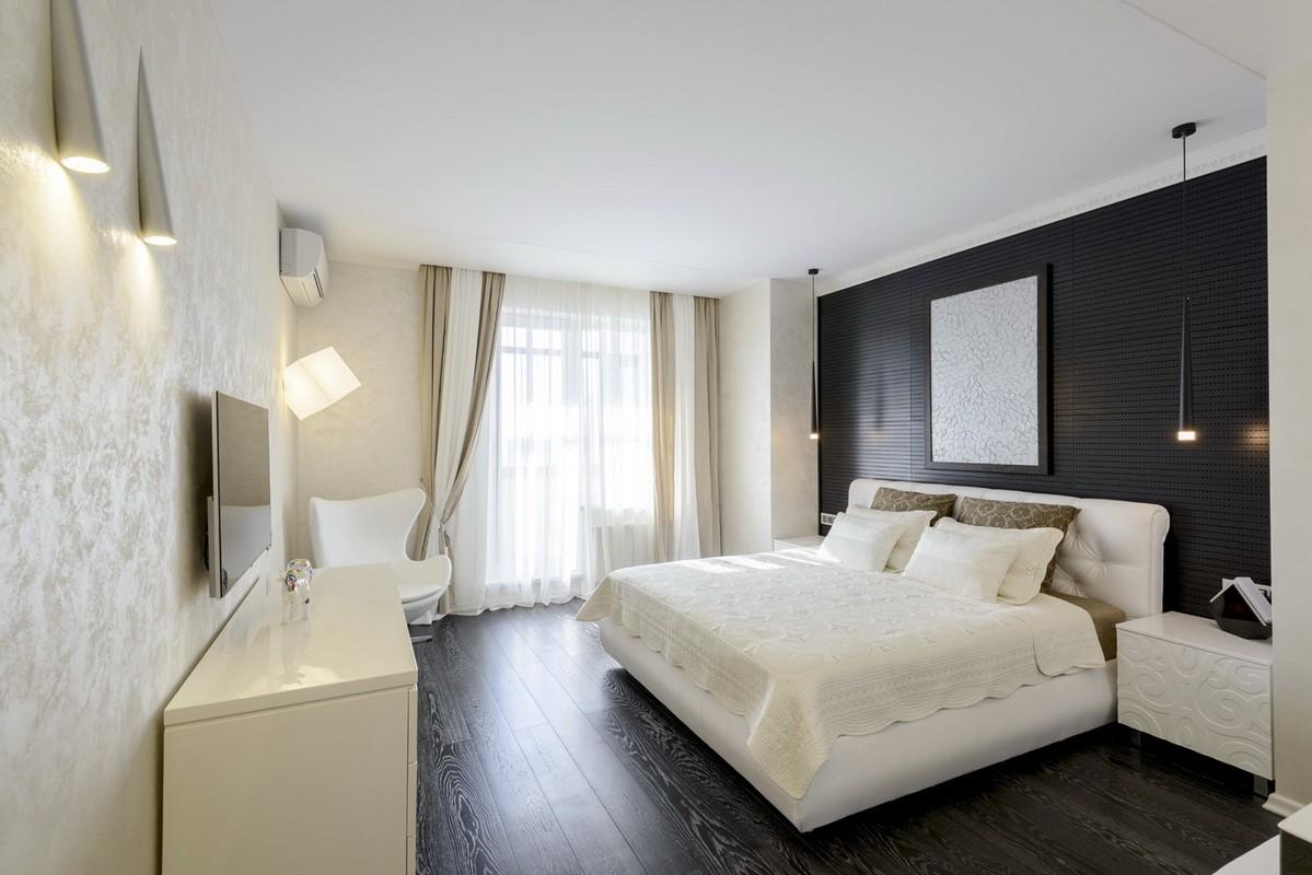 стильный дизайн спальни 12 кв м