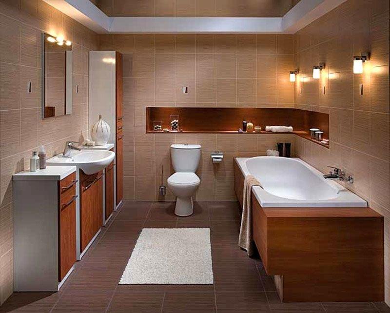 Организация освещения в ванной комнате современного стиля