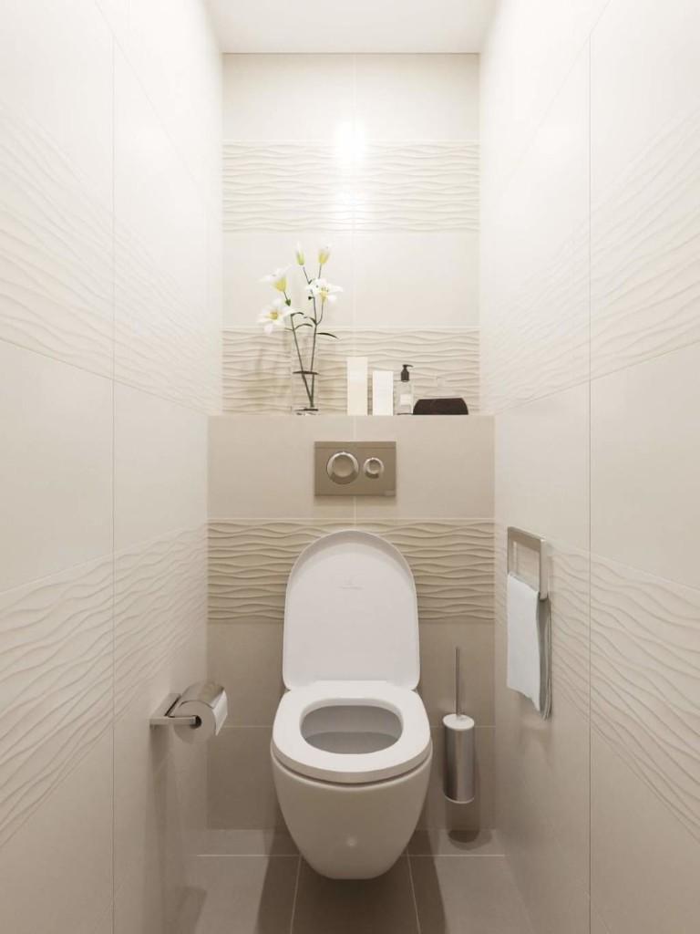 Светлый туалет в хрущевке панельного дома