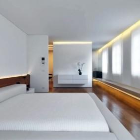 спальня в стиле минимализм хай тек