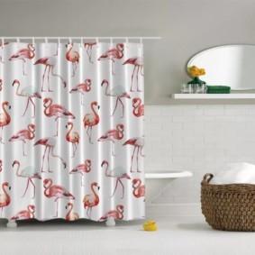 как выбрать шторы для ванной с принтом