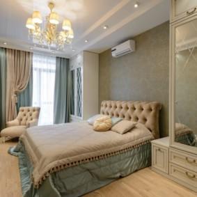 спальня в стиле неоклассика текстиль