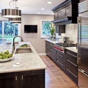 телевизор на кухне декор фото