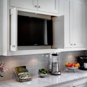 телевизор на кухне дизайн фото