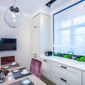 телевизор на кухне фото дизайн