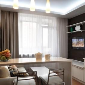 телевизор на кухне фото идеи