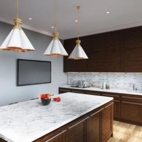 телевизор на кухне фото интерьер