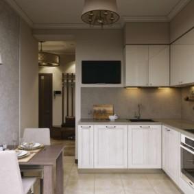 телевизор на кухне фото оформление
