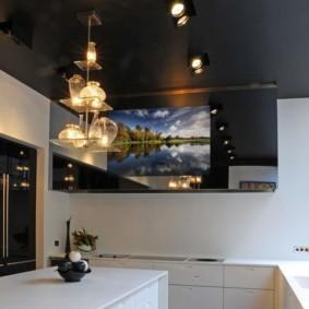 телевизор на кухне идеи виды