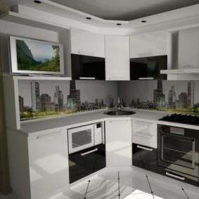 телевизор на кухне интерьер