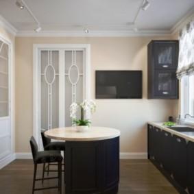 телевизор на кухне интерьер фото