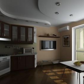 телевизор на кухне интерьер идеи