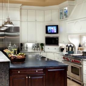 телевизор на кухне обзор идеи