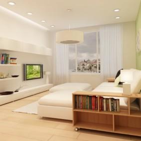 спальня-гостиная 18 кв.м. с тумбой