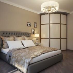 угловой шкаф купе в спальню фото декор