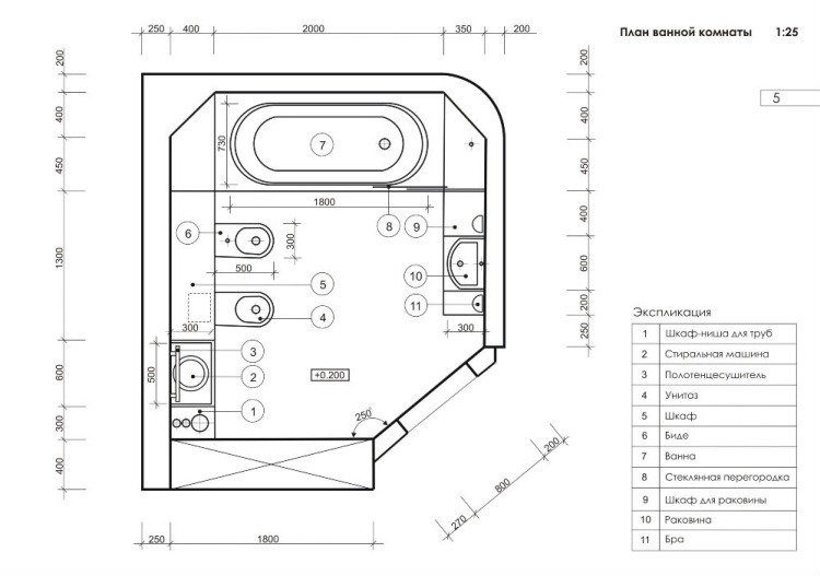 Утвержденный проект объединения ванной с туалетом