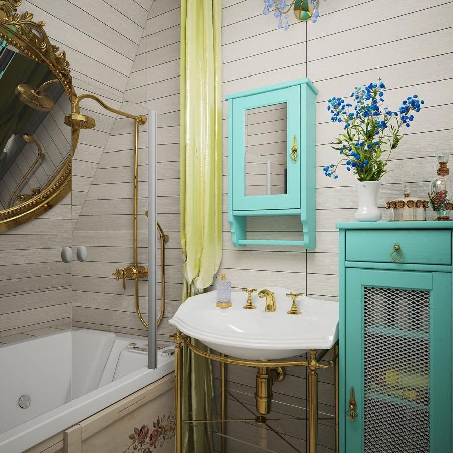 Небольшая ванная комната в стиле прованс