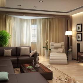 спальня-гостиная 18 кв.м. варианты