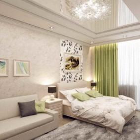 спальня-гостиная 18 кв.м. варианты фото