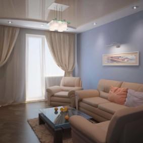 спальня-гостиная 18 кв.м. фото варианты