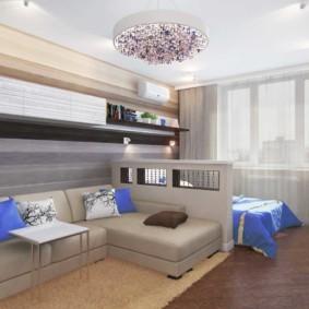 спальня-гостиная 18 кв.м. фото вариантов