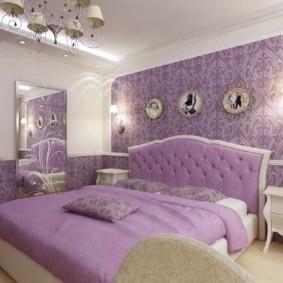 сиреневая спальня виды дизайна