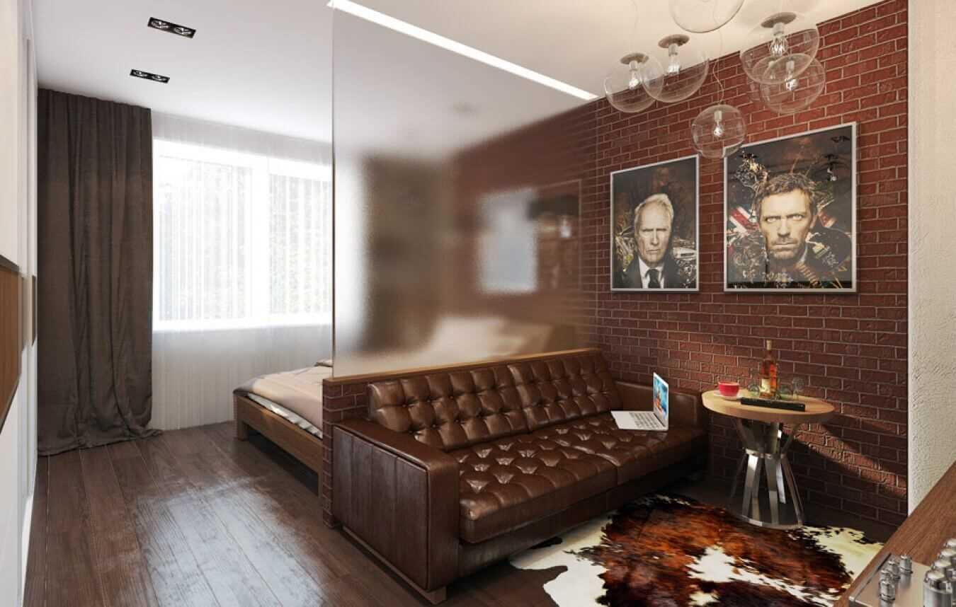 спальня-гостиная 18 кв.м. зонирование