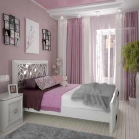 сиреневая спальня дизайн