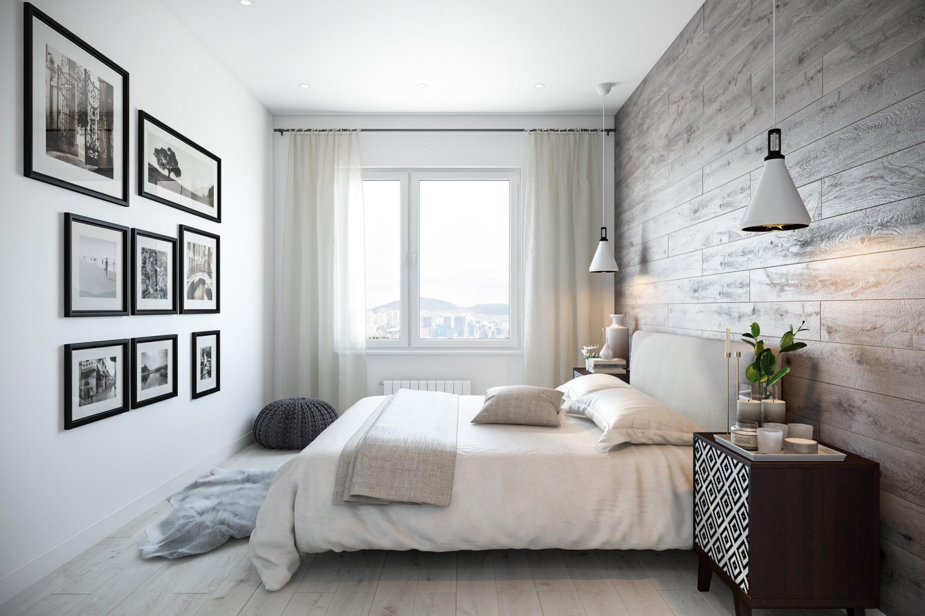 скандинавский дизайн спальни 12 кв м