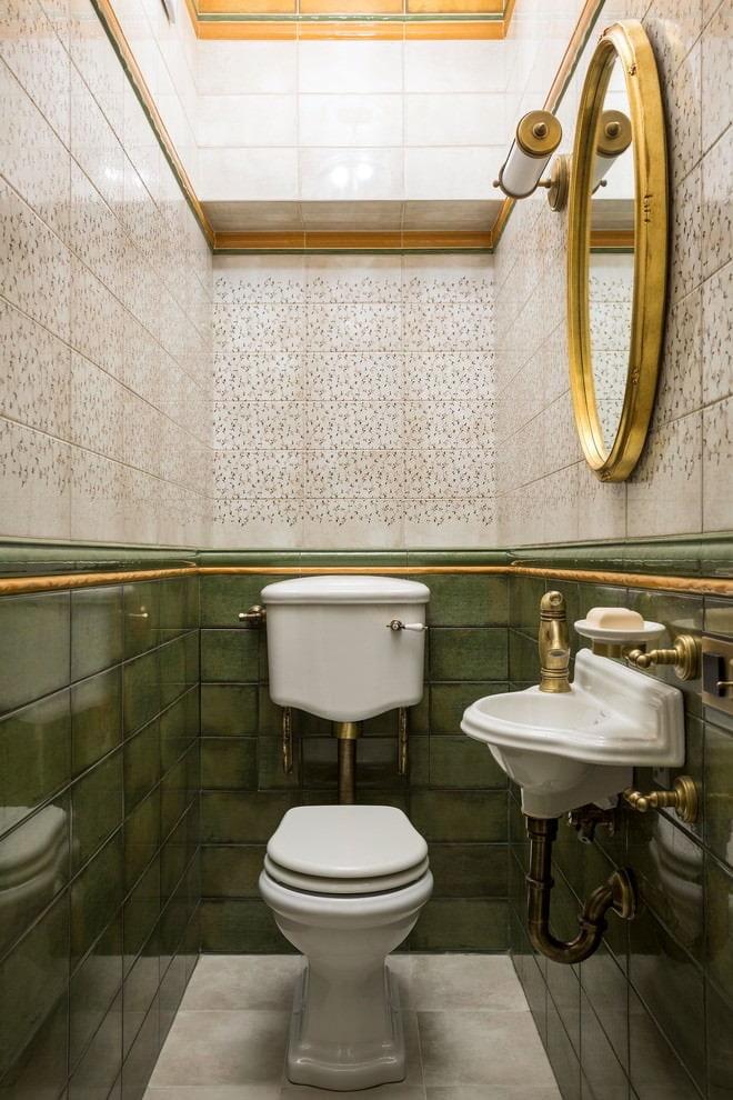 Интерьер туалета без ванны в стиле классики