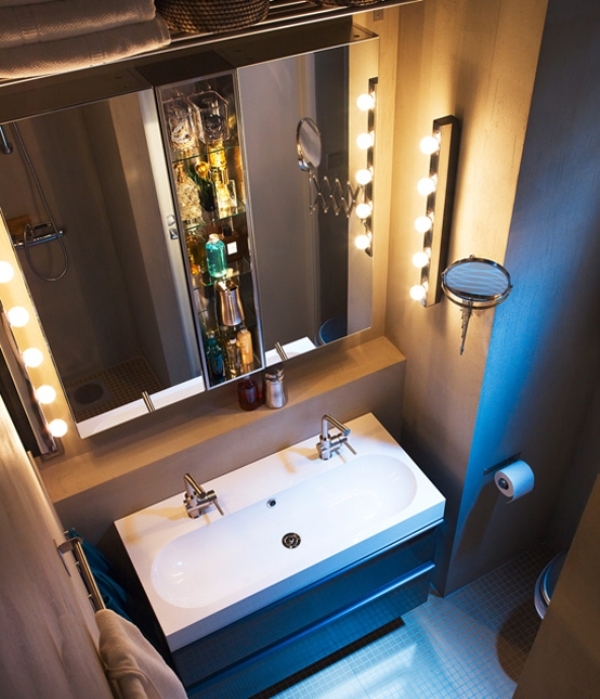зеркальный шкафчик для ванной комнаты