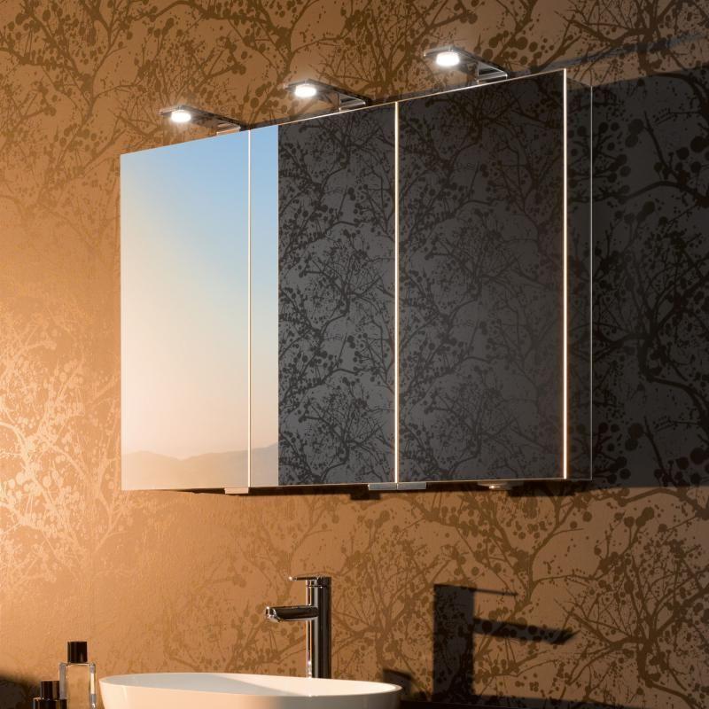 зеркальные шкафчики в ванной