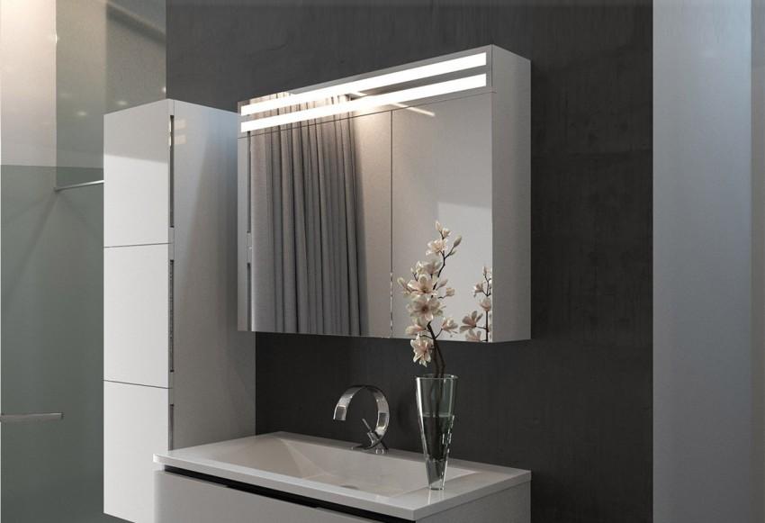 зеркальный шкаф в ванной