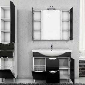 зеркальный шкаф в ванную декор