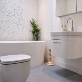 зеркальный шкаф в ванную декор идеи